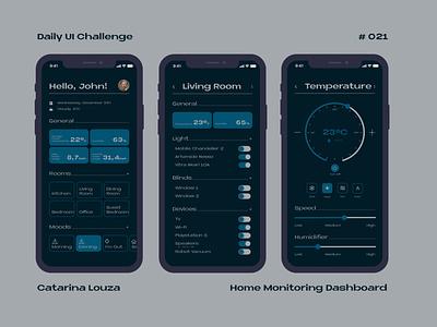 Daily UI Challenge #021 home monitoring app ui dailyuichallenge dailyui