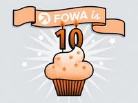 FOWA Birthday Cupcake