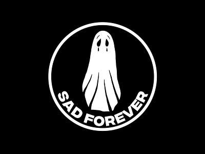 SAD FOREVER sad tattoo minimal merch design logo illustration design