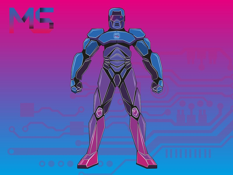 Robot design branding logo персонаж иллюстрация векторная графика вектор робот