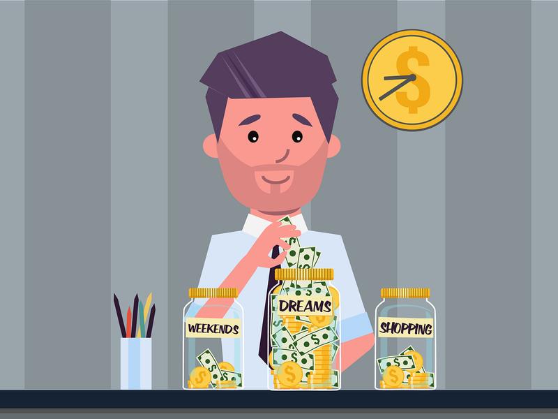 Dream портрет design персонаж векторная графика иллюстрация вектор покупки мечты выходные деньги мечта