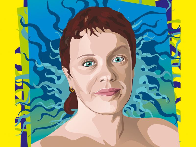 Explosion design персонаж векторная графика иллюстрация вектор взрыв лицо постер женщина портрет эмоции эмоция