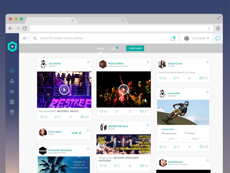 social networking sites templates php - news feed social network concept template by l o sestier