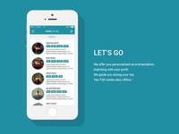 Tod (trip on demand) - Mobile app concept