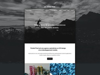 Home page - Web agency website