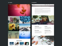 Clients / Expertise page - Web agency website