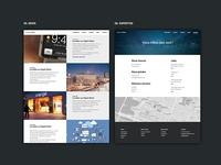 News / contact page - Web agency website