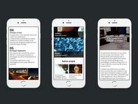 Web agency website mobile version