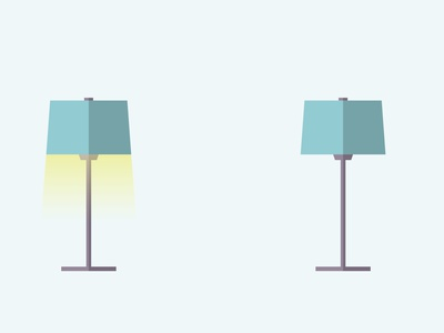 LIGHT lustr design sketch vector logo lighting illustration illustrator room stand yellow cold blue darkness dark light shade lamps lamp