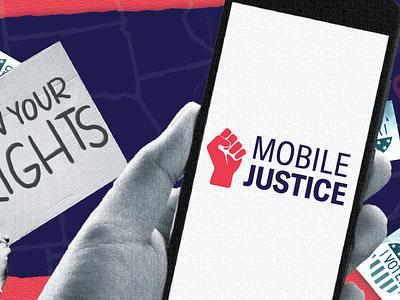 Mobile Justice App Marketing marketing branding photoshop layout design
