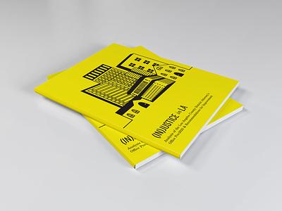 (In)justice in LA: ACLU illustrator indesign adobe typset print line art illustration layout design