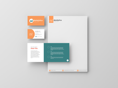Datalytics Branding letterhead pitchdeck businesscard logodesign logo branding concept branding design business branding