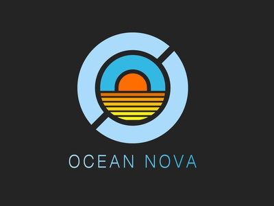 ocean nova logo minimal vector illustration design branding
