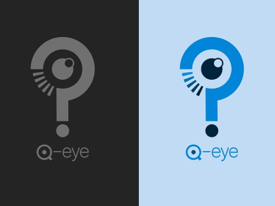 Q-Eye logo minimal logo vector illustration design branding