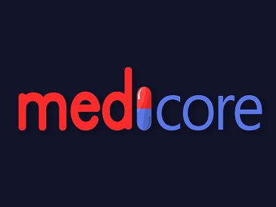 medicore logo minimal logo vector illustration design branding