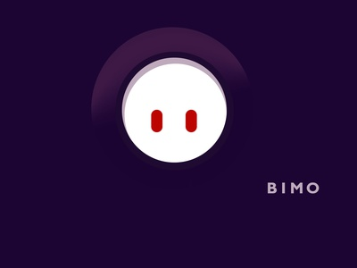 bimo icon minimal logo vector illustration design branding