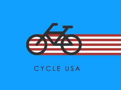 cycle usa icon minimal design vector illustration branding