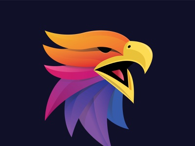 Phoenix Mascot ux typography app icon logo minimal vector illustration design branding