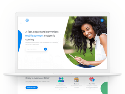 Sika Website Redesign mobile app landing page landing page payment clean ux ui