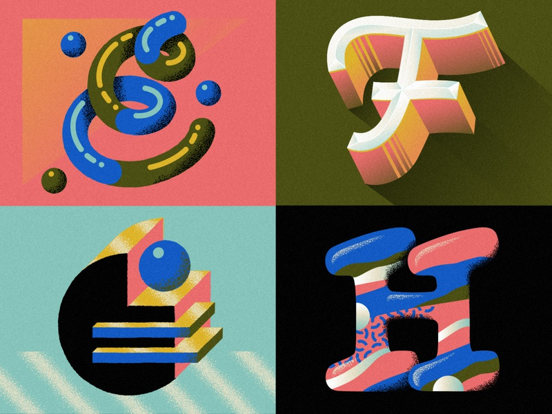 E F G H for 36 days of type