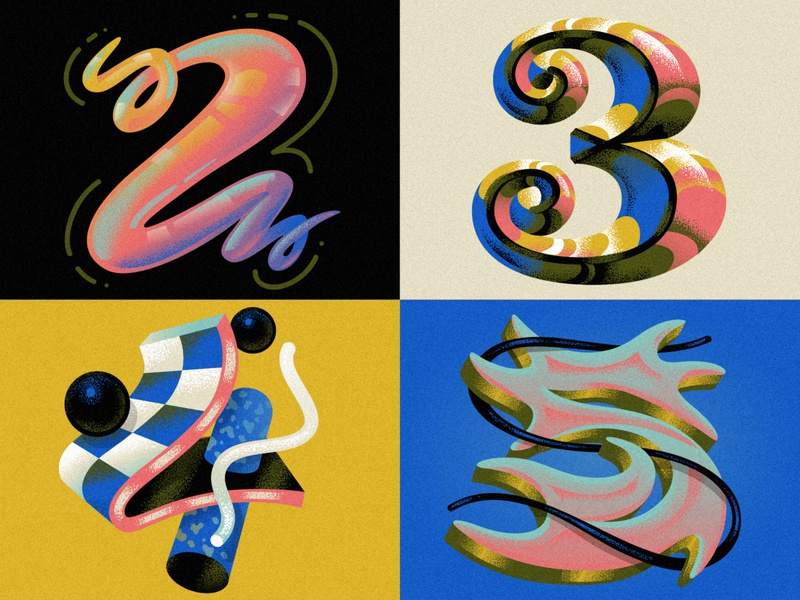 2 3 4 5 for 36 Days of Type