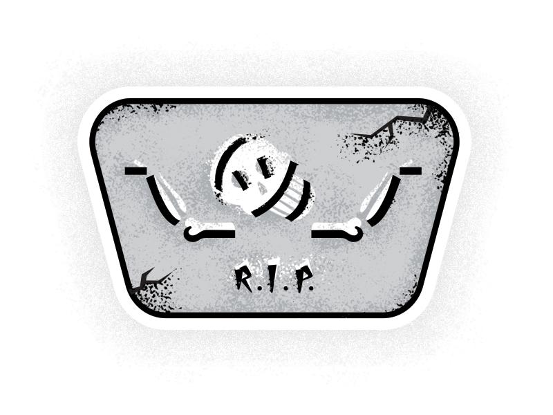R.I.P. 2016 whatever illustration shrug skull skeleton r.i.p. rip