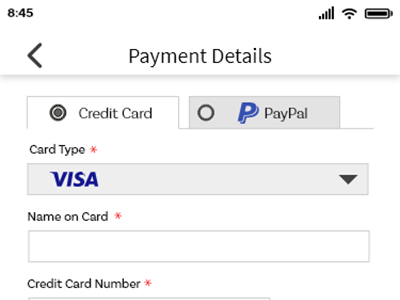 Day 002- Credit Card Payment ui design payment form payment method mobile app design mobile ui mobile design credit card checkout simplistic design hifi design challenge uxdesign dailyui 002