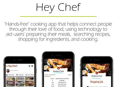 Hey Chef hi-fi gui user experience social media design uxui mobilefirst mobile app design uxdesign