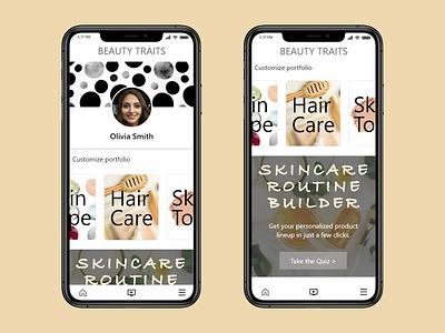 Daily UI- 006 design component library ux  ui adobe xd skincare user profile uidesign mobile ui mobile app design uxdesign 100 day challenge dailyui