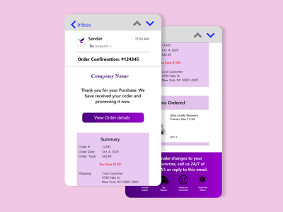 Daily UI 017- Email Receipt customer support email design order confirmation receipt invoice email invoice email receipt mobile app design 100daychallenge adobe xd uidesign ux  ui design challenge dailyuichallenge dailyui