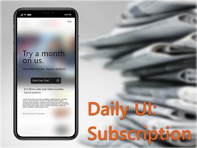 Daily UI 026  Subscription mobile ui mobile app mobile design subscription box subscriptions newsletter subscribe form modal subscription subscribe adobe xd uidesign mobile app design uxdesign ux  ui design challenge dailyui