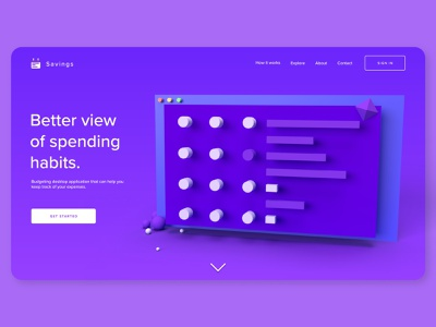 Financial Calendar | Home Page home page finances adobe dimension adobe xd ui design ux design web design