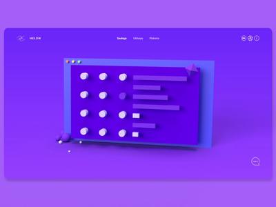 Portfolio Site | Landing Page portfolio site web design ux design ui design landing page adobe xd adobe dimension