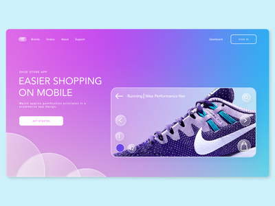 Shoe Store App | Home Page adobe xd shopping app web design home page