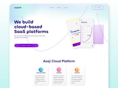 Software House | Landing Page uxui ui ux website software house saas design saas ux design ui design home page web design adobe xd