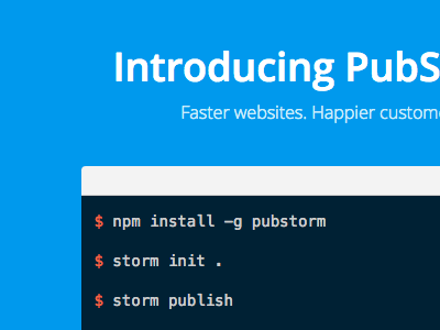 Pubstorm hosting static sites nitrous