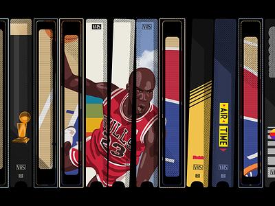 The Jordan VHS Collection chicago bulls michael jordan illustration nba basketball