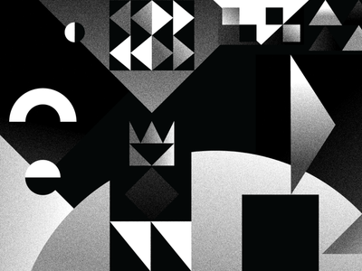 100 Day Project - Day 84-86 triptych geometric grain 100dayproject blackandwhite abstract vector