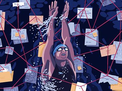 Milorad Cavic conspiracy swimmer illustration