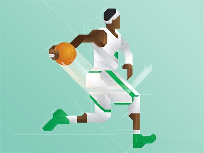 The Rondo nba basketball boston celtics rajon rondo polygon