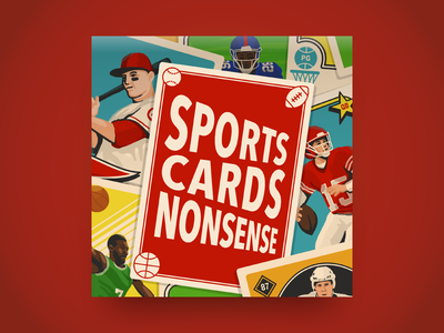 Sports Cards Nonsense card illustration trading cards cards sports podcast