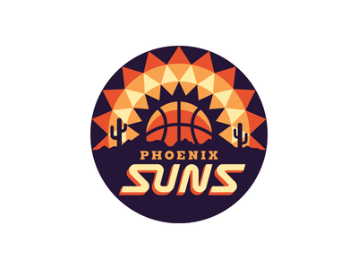 NBA Logo Redesigns: Phoenix Suns cactus arizona phoenix sun redesign logo nba basketball