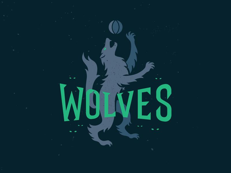 Timberwolves-Dark minnesota redesign logo basketball timberwolves dark wolf wolves