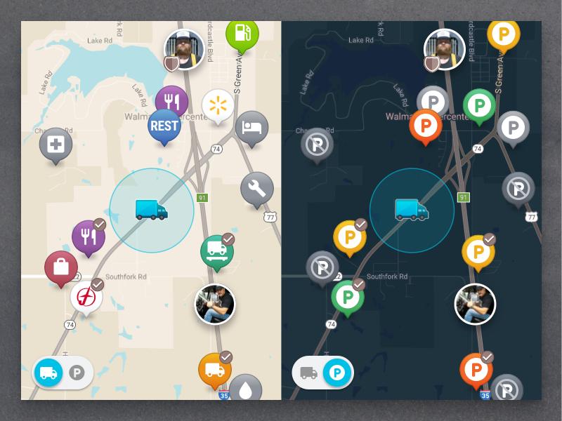 Mudflap Map Pins by Michael Weinstein
