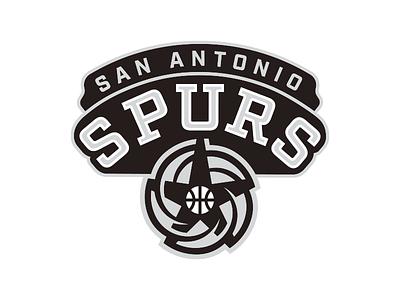 NBA Logo Redesigns: San Antonio Spurs badge team texas spurs san antonio nba redesign logo basketball