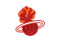 Nba logo redesigns miami heat secondary dribbble