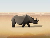 100 Day Project - Day 21: Black Rhino