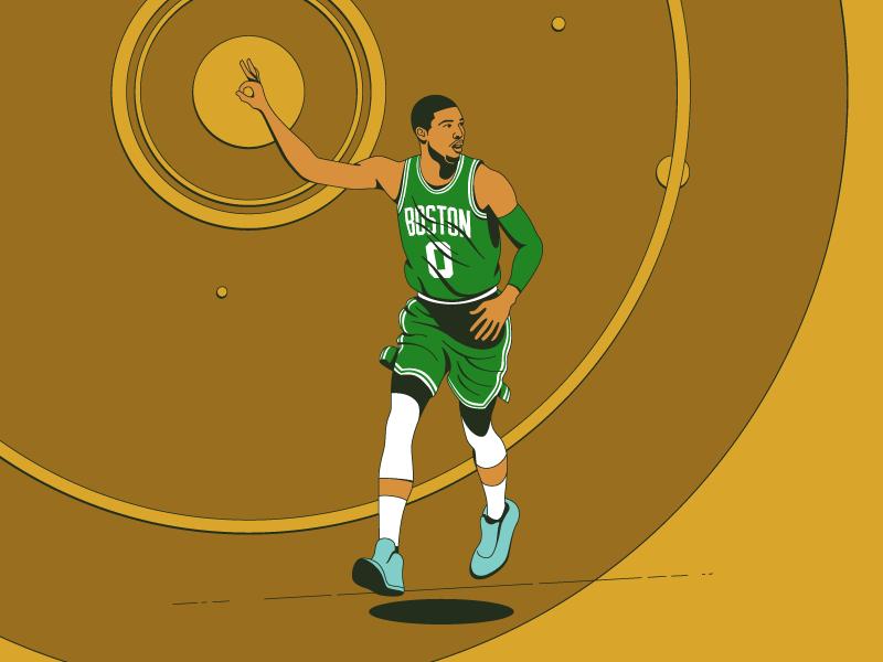 Tatum illustration tatum player nba celtics boston basketball