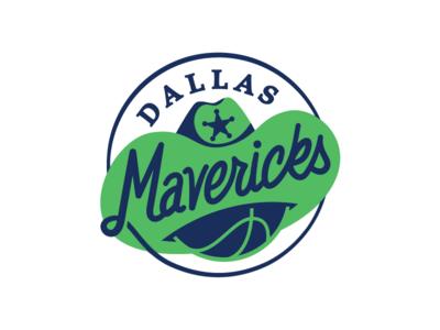 NBA Logo Redesigns: Dallas Mavericks cowboy hat mavericks texas dallas redesign logo nba basketball