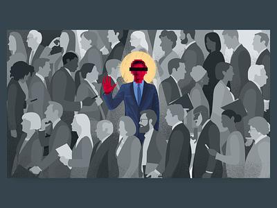 The Whistleblower crowd editorial political politics whistleblower illustration
